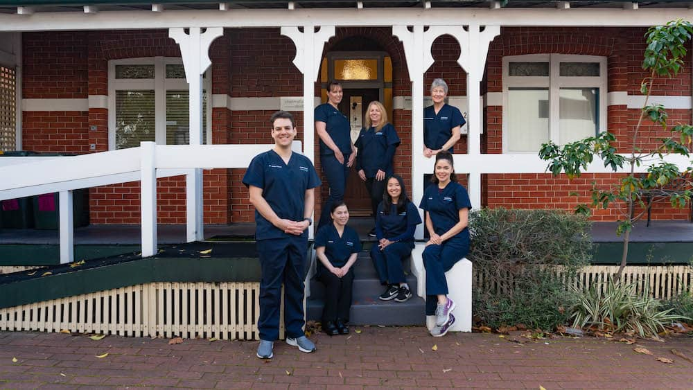 The Chelmsford Dental Team out the front of the practice.